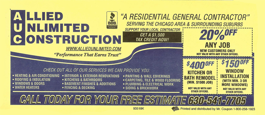 allied unlimited construction coupon Naperville